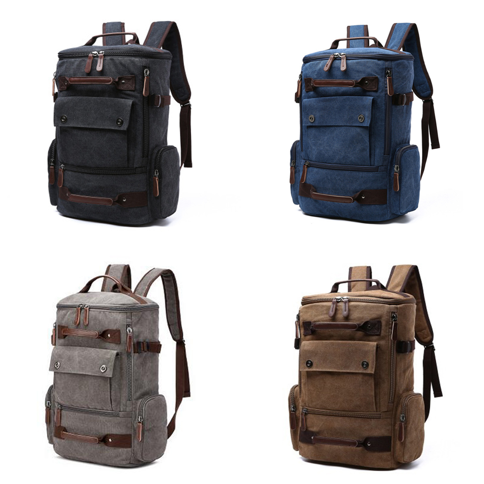 0 Canvas Backpack 15.6