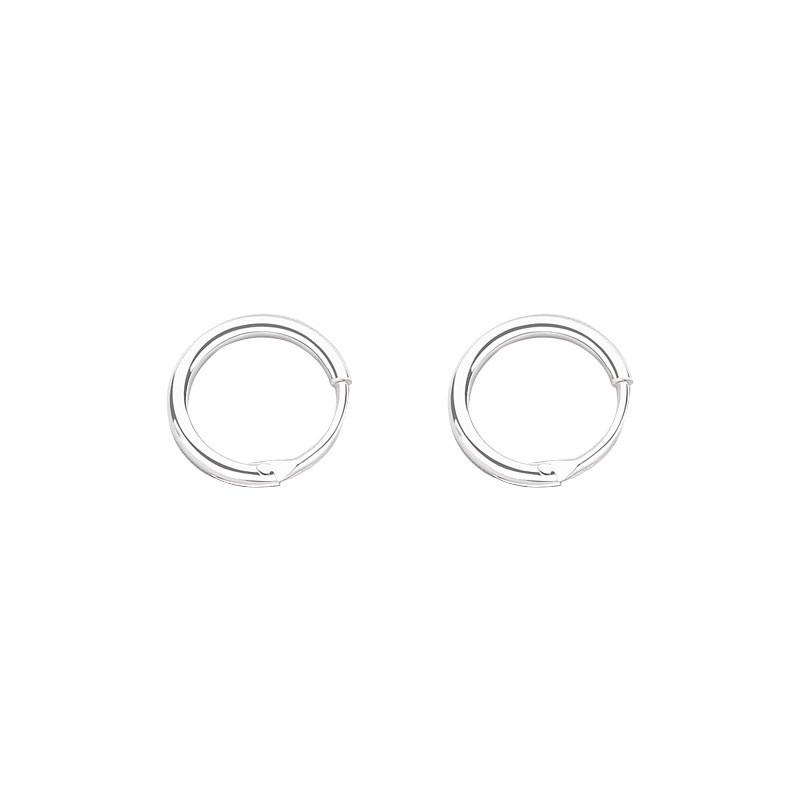 Unisexe 100/% Pure S925 Argent Massif Uni Boucle Boule Charme Boucles d/'oreilles créoles pour Parti