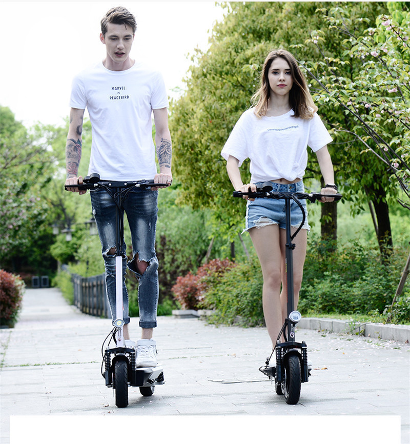 Daibot Folding Electric Bike 48V Two Wheel Electric Scooters 10 inch Motor 500W Portable With Seat Electric Scooters Adults (12)