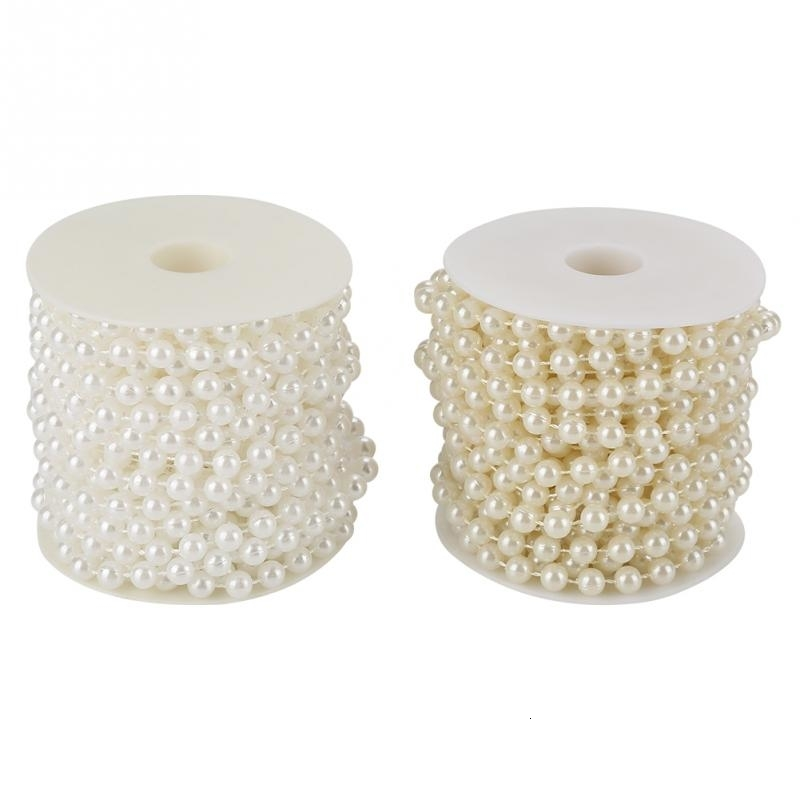75m roll Grinding Pearl Wire Beads Garland String DIY Wedding Decoration 3-8MM