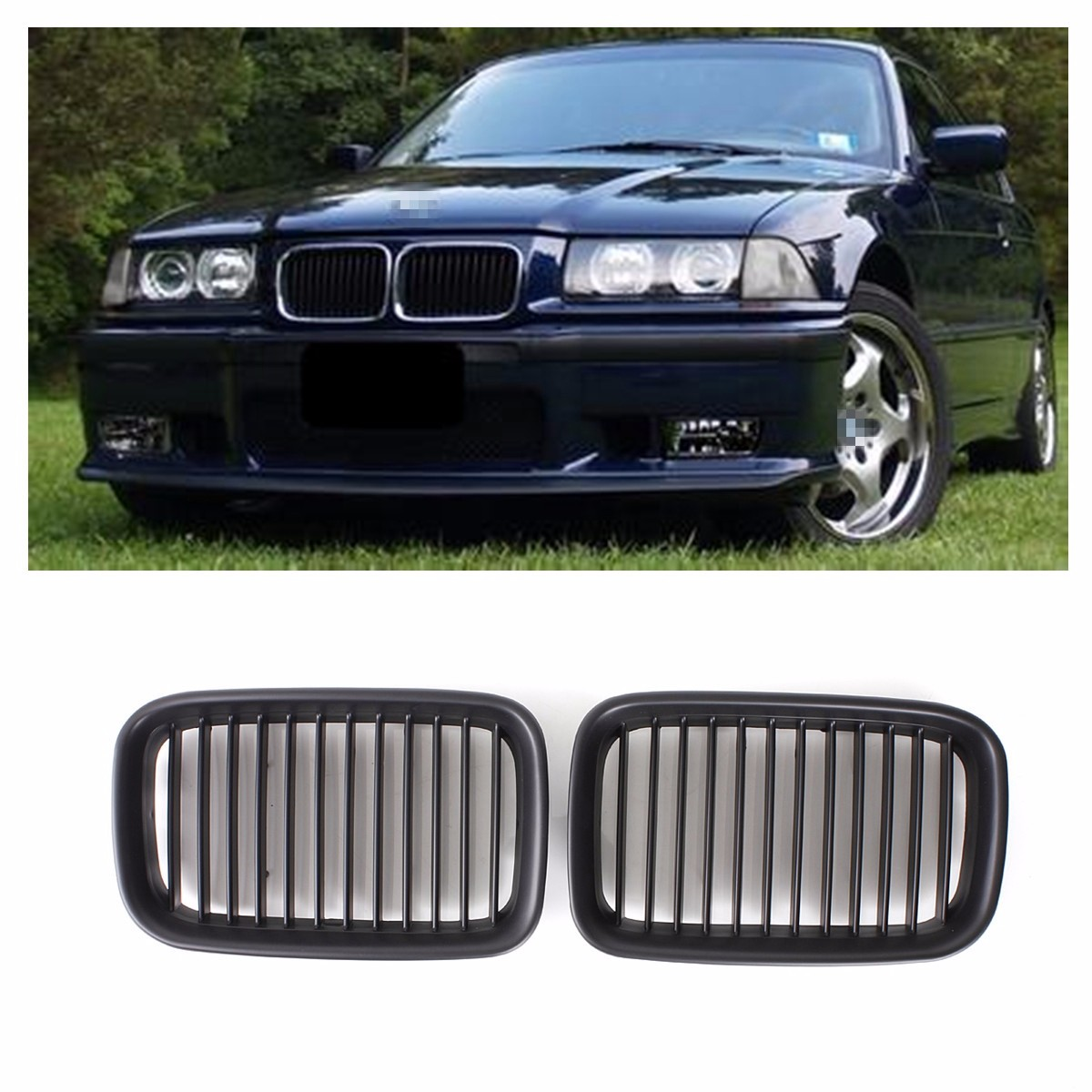 sett 2003 GRIGLIE NERO GRILL NERO  NUOVO per BMW E53  X5  1999