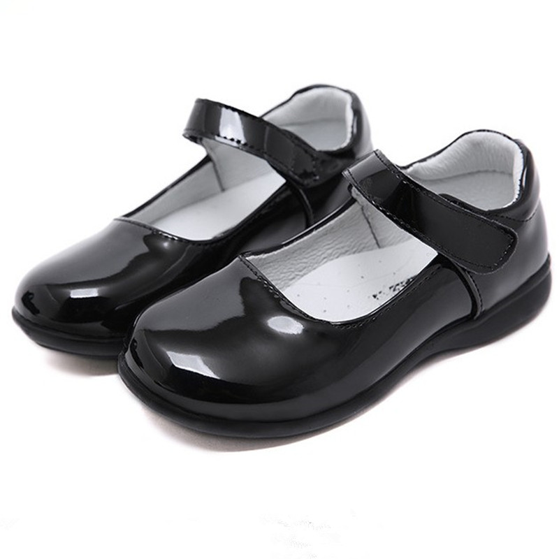Girls Black Leather School Shoes Online