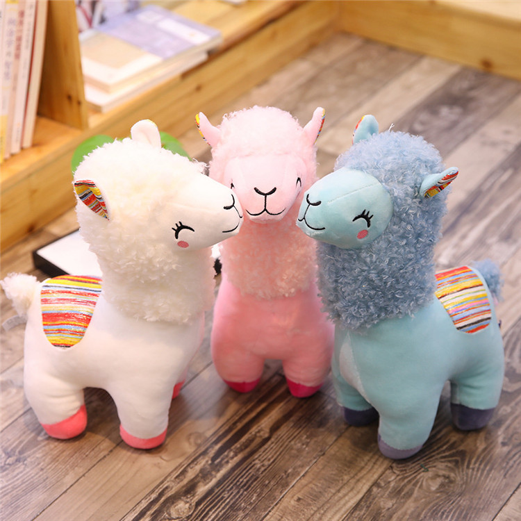 Rainbow Alpaca Llama Plush Toy Stuffed Animal Doll Birthday Gift CF
