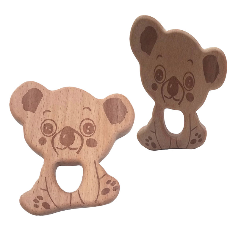 Wooden Baby Appease Teether Camel Wooden Teether Baby Molar Toy DIY Ornaments RD