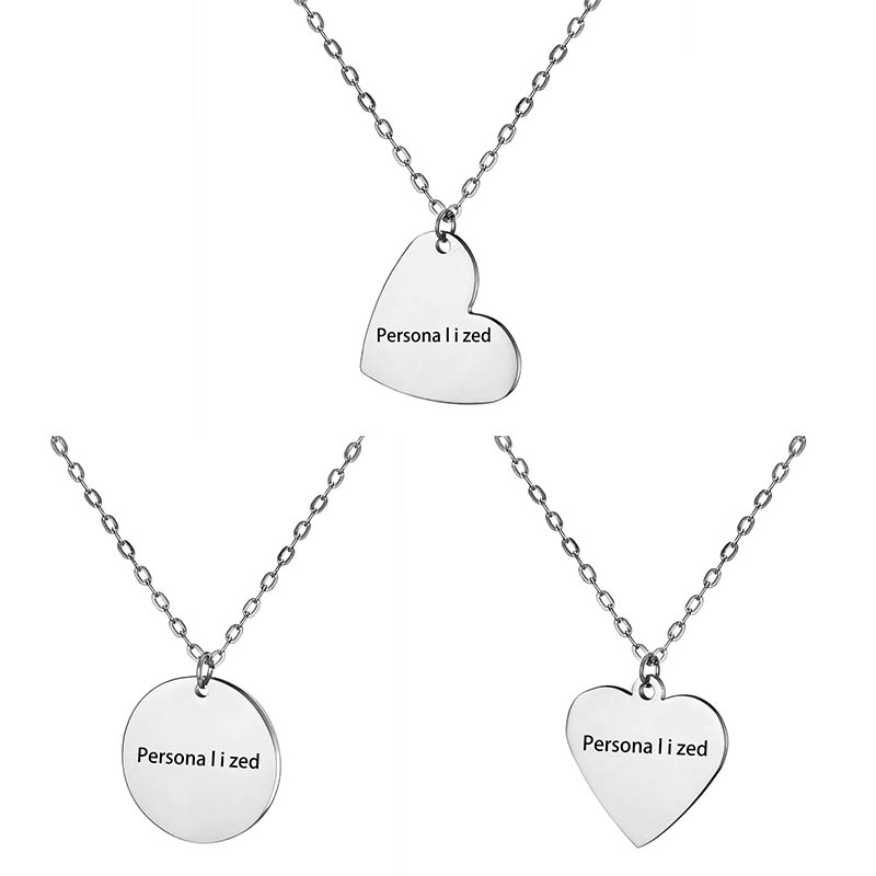 logotipo personalizado collar Personalizadas del encanto del corazón Grabado Foto texto