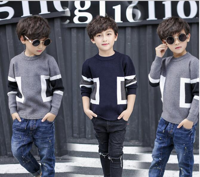 Suéteres para niños Suéteres para niños Jerseys para niños 2018 Otoño Invierno Bebé Niño de punto Niños Suéter Niños Ropa para niños