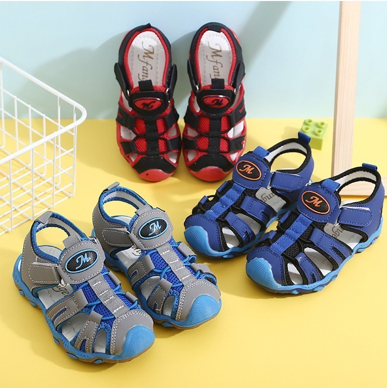 Insole Length 13-21CM Children Girls Boys 3 To 11 Years Old Roman Breathable Sport Running Summer Outdoor Beach Sandals Shoes