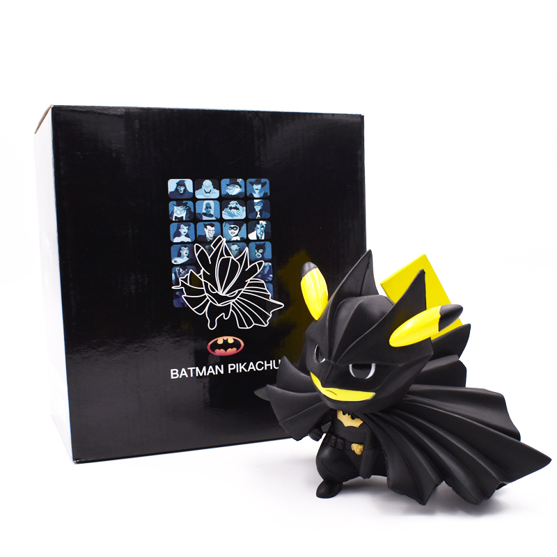 12 cm Batman Pikachu Figura Pikachu Cosplay Batman Comic PVC Figura de Acción de Juguete Colección Modelo de Regalo Envío Gratis Y190530