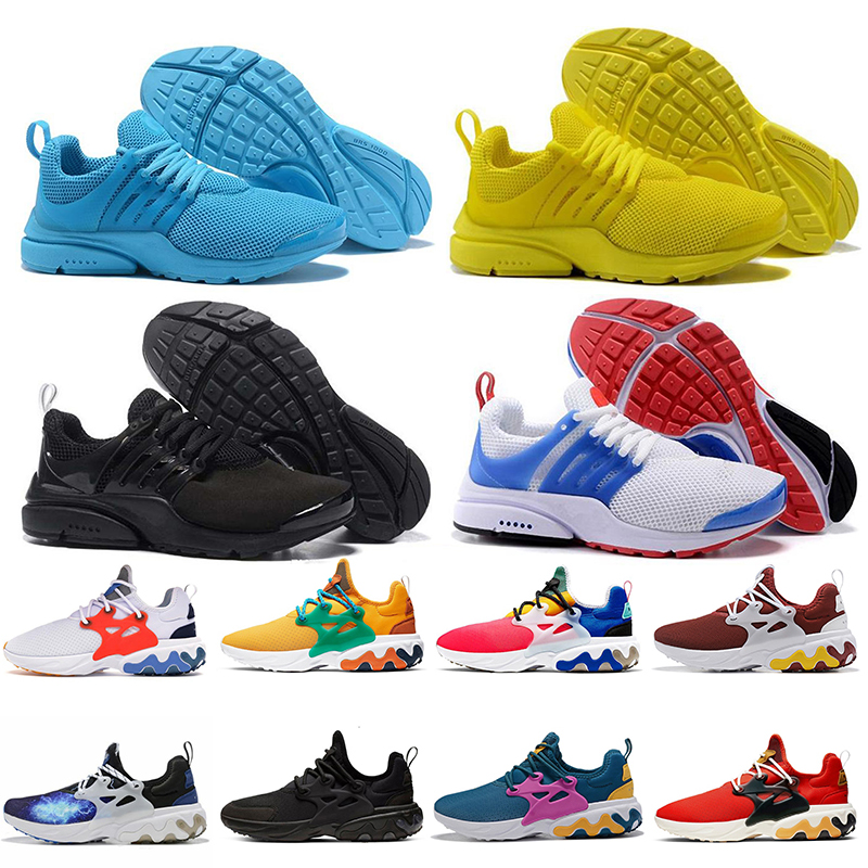 Acheter Nike Presto React Nouveau 2018 Enfants Fille Prestos 5 Chaussures De Course Hommes Femmes Presto Ultra BR QS Jaune Rose Oreo En Plein Air De