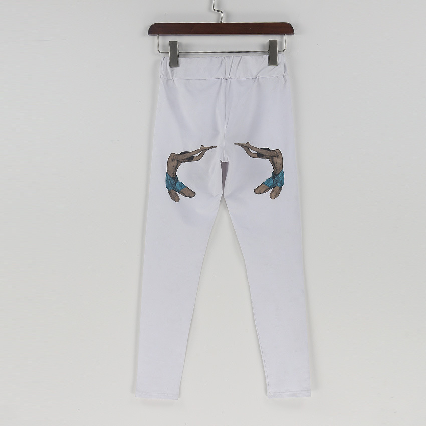 BKLD-WomensCasual-Pants-Pencil-Trousers--Spring-Autumn-White-funny-printed-Stretch-Pants-For-Women-Slim