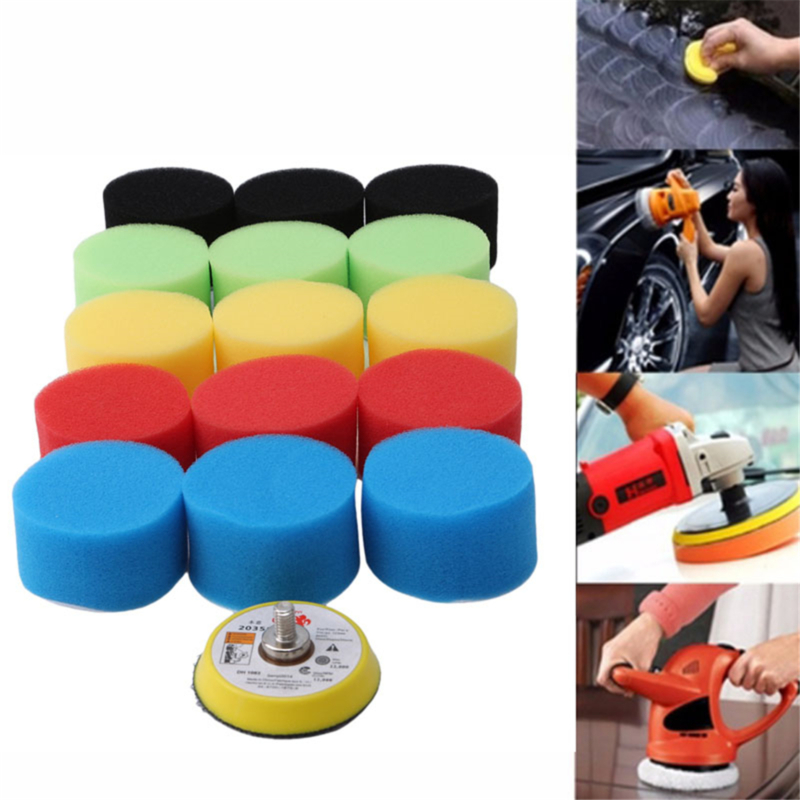 Yellow 120 MM Thick Conical Polished Sponge Wheel Car Cleanning Buffing