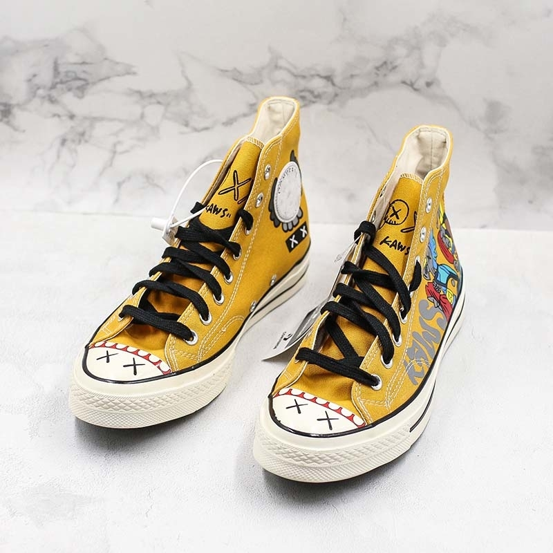 Hand-painted 2019 Companion X Convase Chuck Star 197s0 Hi High Canvas Shoes Comfortable Designer Skateboard Shoes Fashion Sneakers