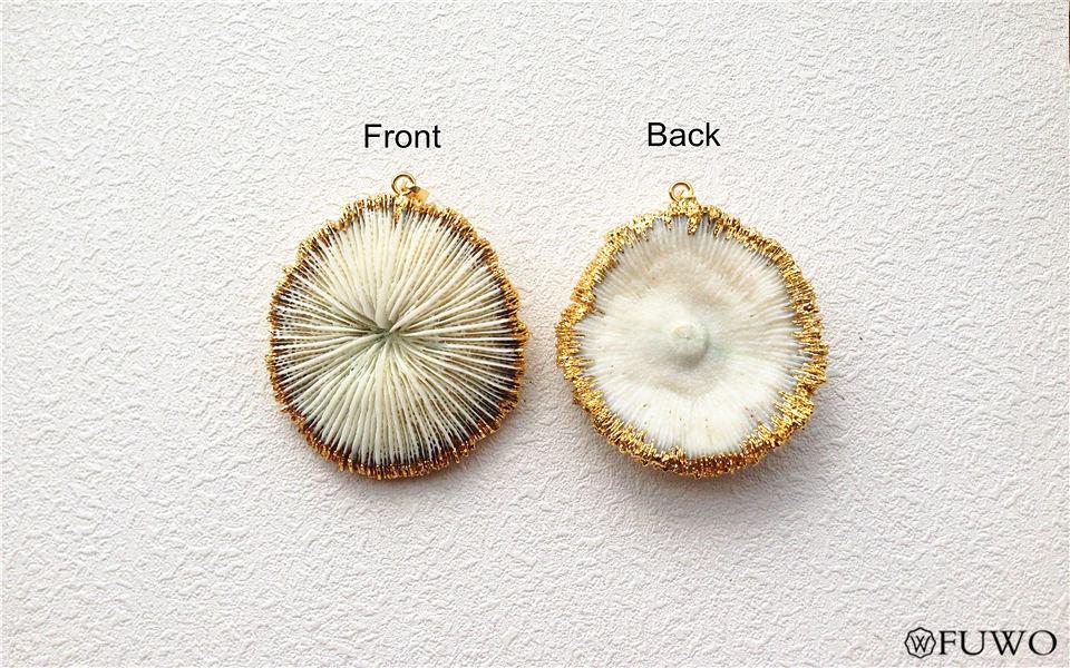 White Coral Pendant 9