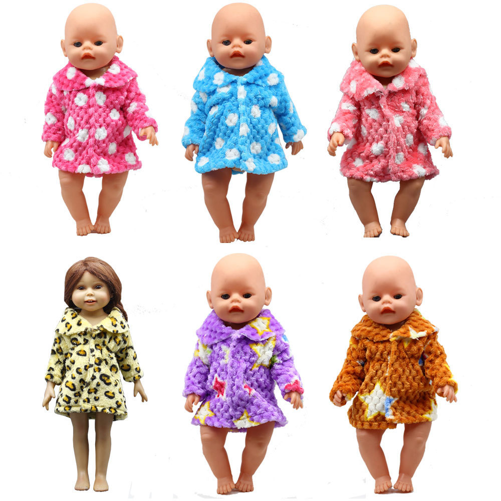 For 43cm New Baby Doll Rose Red Bathrobe Clothes Fit 18 Inch Girl Doll Accessories The Best Christmas Gift