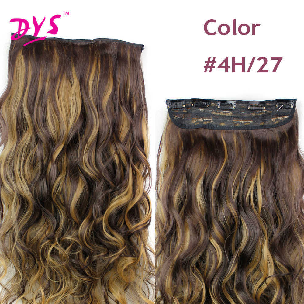 Deyngs 60CM One Piece 5 Clips in Hair Extensions For Women 34 Full Head Long Wavy16 Colors High Temperature Synthetic Fiber (7)