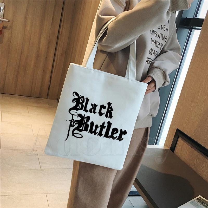 UK Seller Black Butler anime Shopper Handbag Fast Delivery!