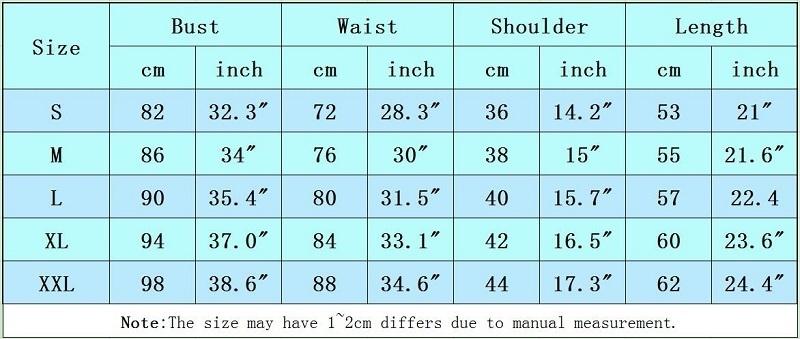 5-women t shirt size chart