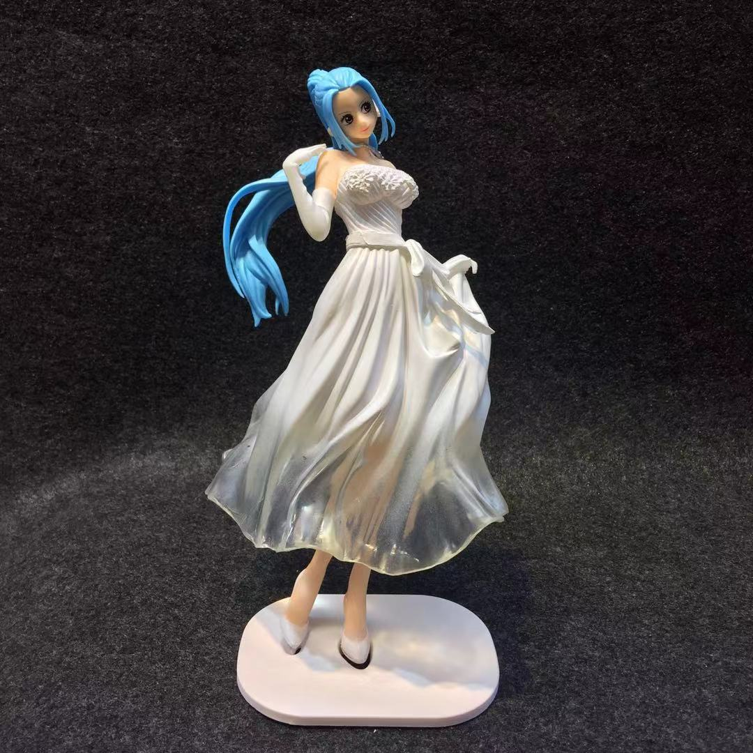 Rei pirata SENHORA EDGE WEDDING Weiweiwei Vestido de Noiva Saia Branca / Caixa de Saia Azul Feitos À Mão