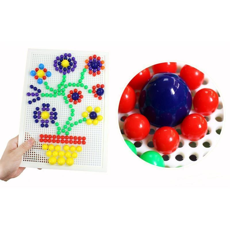 Mushroom Nails Mosaic Diy Science Pile Up Toy Creative Pegboard Jigsaw Puzzle Game Educational Toy For Children