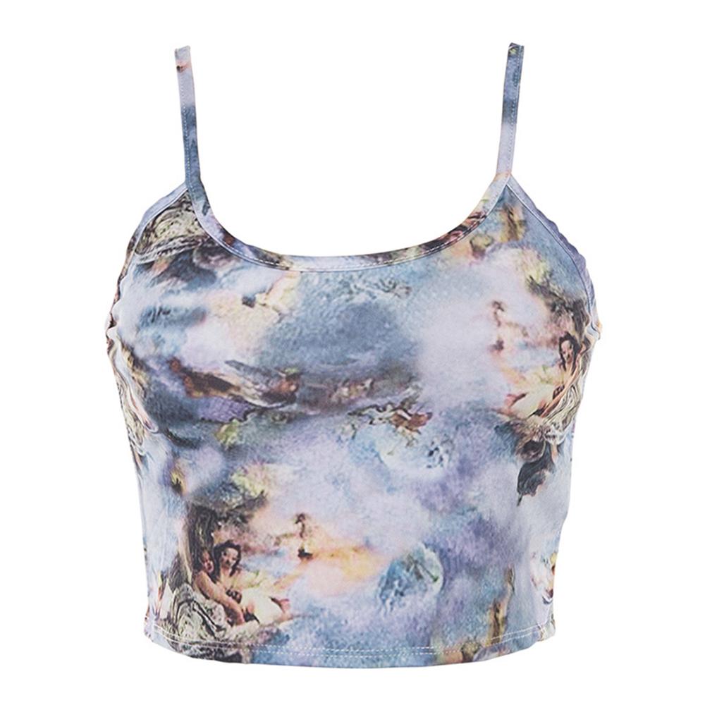 Women Striped Crop Top Bustier Tube Crop Tank Top Cami Vest Blouse Streetwear