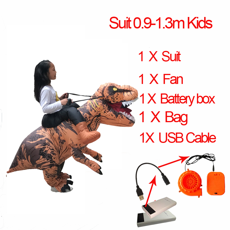 Jurassic World t rex Velociraptor Costume For Adult Cosplay Fantasy Halloween Inflatable T REX Raptor Dinosaur Costume for Women (4)