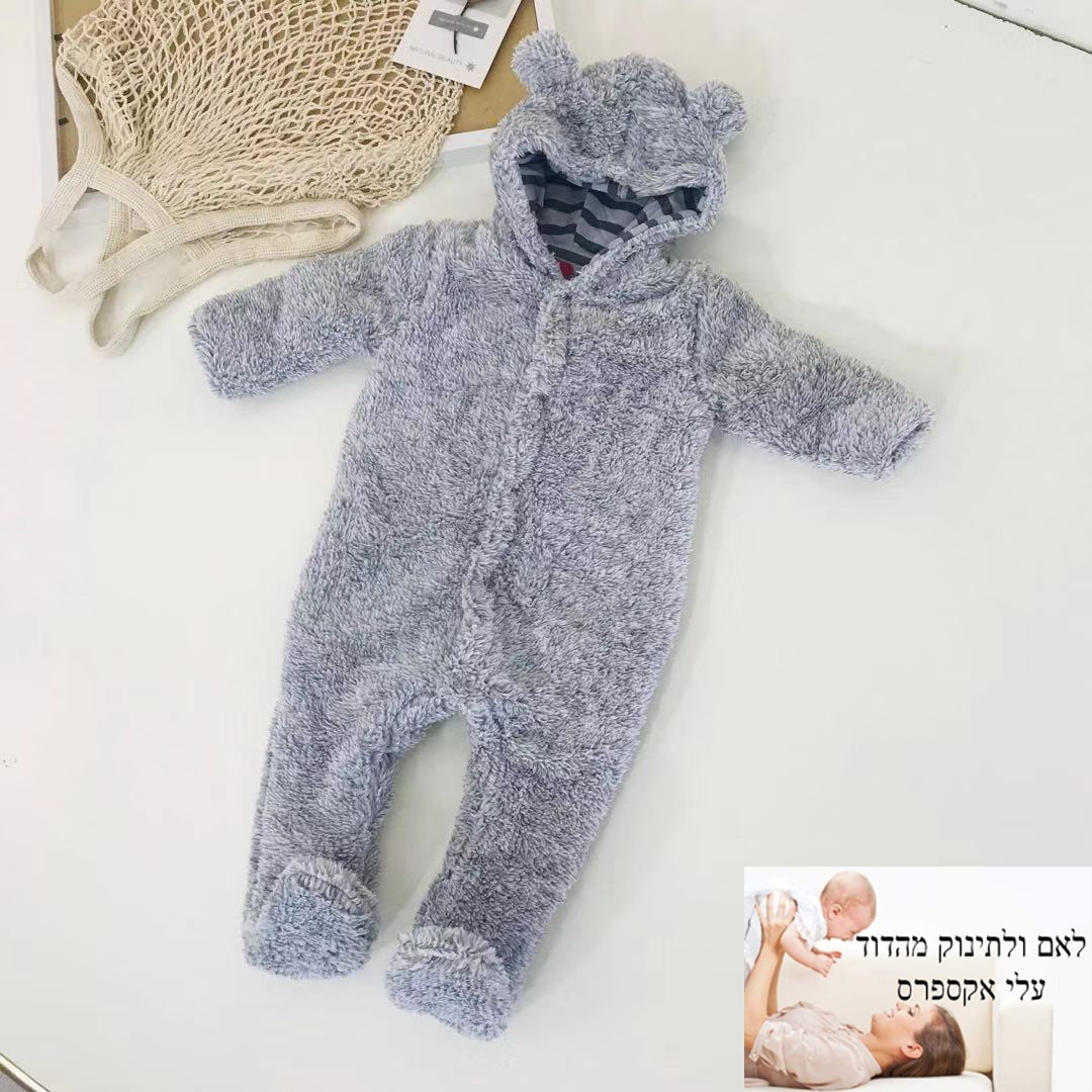 newborn long sleeve hooded jumpsuit footies new born baby boy girl 2019 winter warm clothes 3-24 month overalls thickness