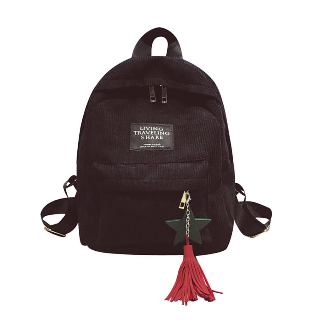 1Women's Velvet Bag Rucksack Student Schultaschen Für Teenager Große Kapazität Middle Student Rucksack Reiserucksack # 10