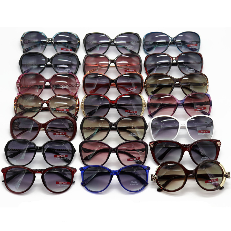 Color styles mixed 2019 NEW Brand Summer Sunglasses Women Sun Glasses Vintage Fashion Big Frame UV400 Oculos De Sol Feminino Clearance