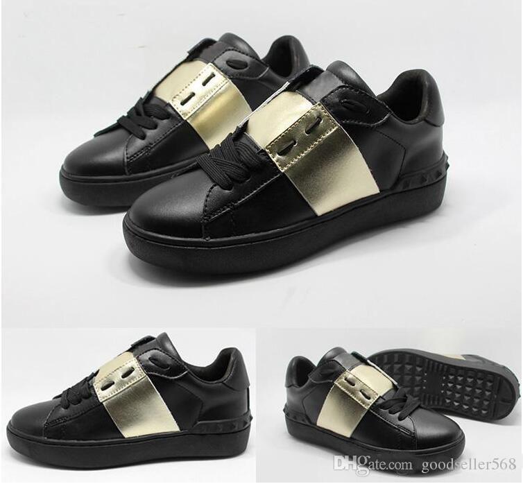 zapatillas de deporte de camuflaje negras de alta calidad zapatillas de deporte de los corredores de los hombres zapatillas de deporte de cuero genuino reales tamaño: 35-45