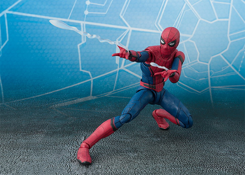 2017 New Spiderman Series Spider-Man PVC Action Figure Collectible Model Toy Christmas Gift for Kids 15cm (10)