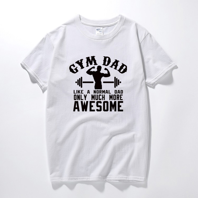 Summer Top Tshirt Men Gym Dad T-shirt Body Building Weight Lifting Power Fathers Day Birthday Gift Casual Cotton Tee Shirt Homme