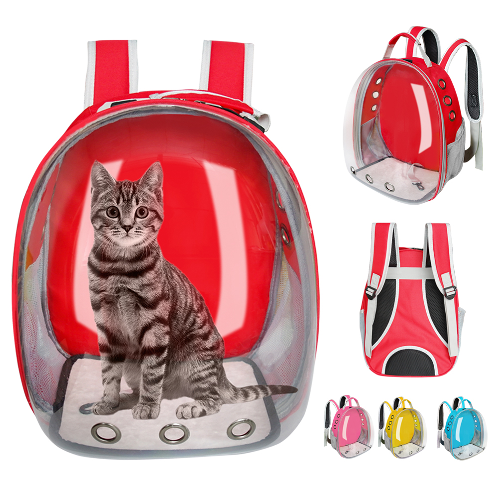 FUYUAN Expandable Cat Carriers Backpack,Breathable Expandable Pet Travel Backpack Pet Backpacks for Cats Small Dogs Puppy