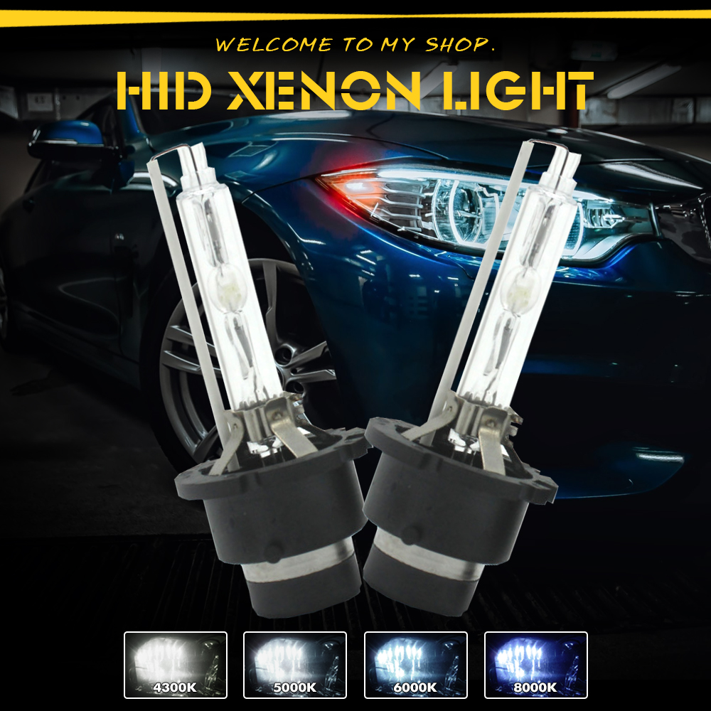 PAIR of Replacement D2S 6000K HID Xenon Bulbs 6K for VAUXHALL OPEL Upgrade