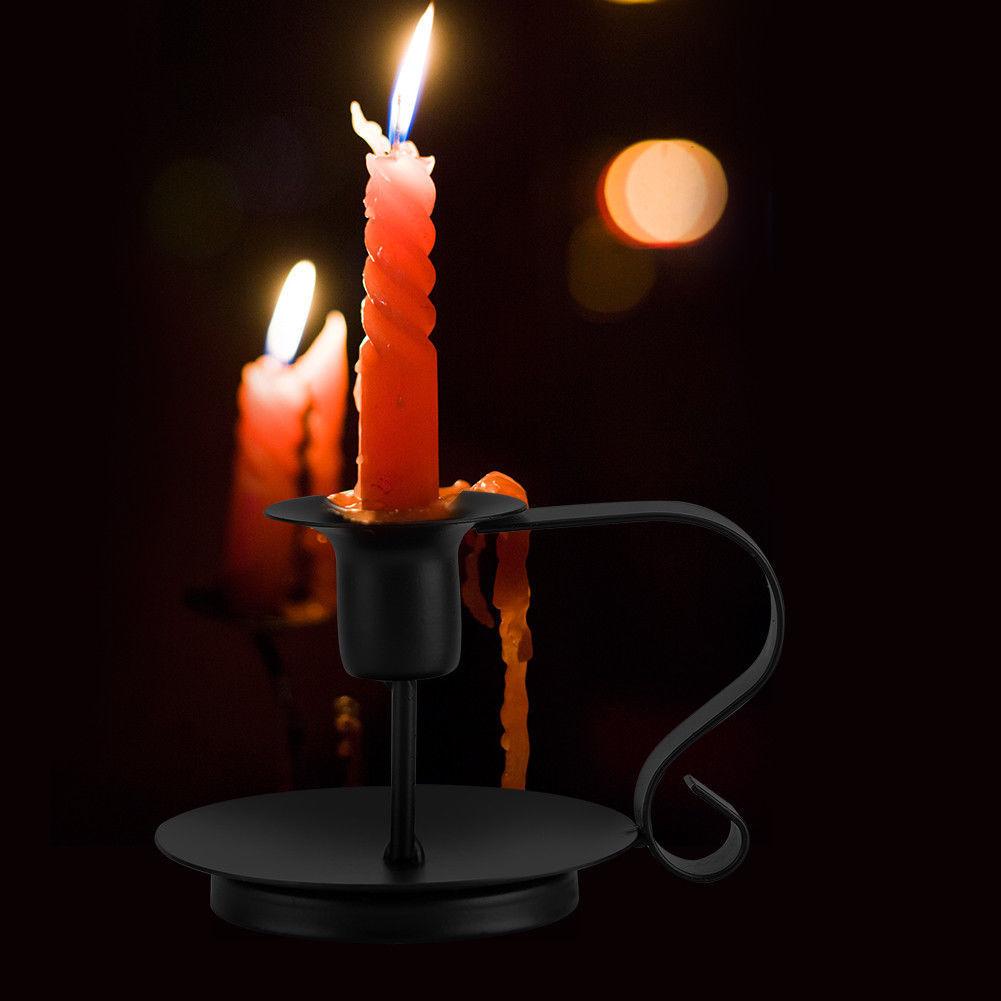 Металл ретро канделябр конус подсвечник подсвечник стенд свечах Di G2X7