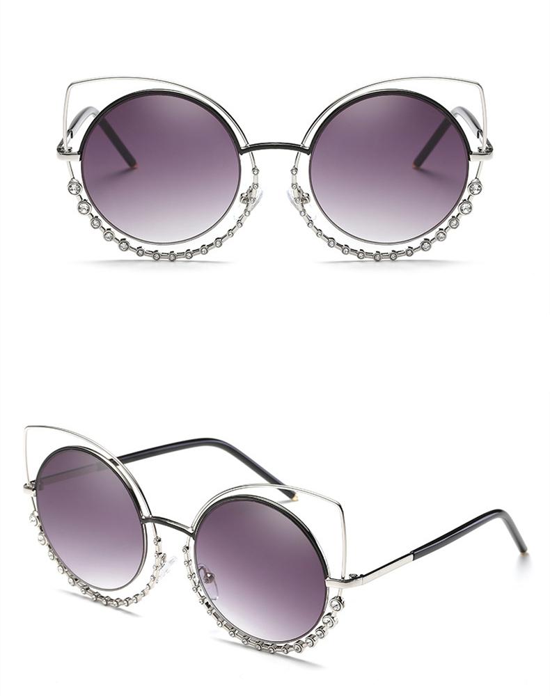 feff35cd18219 Mulheres Moda Óculos De Sol de Boa Qualidade Óculos de Proteção Uv400  Popular Olho de Gato Quadro Brilhante Óculos de Luxo Elegante Óculos De Sol