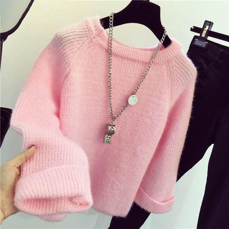 Damen Kunst Mohair Pelz Pullover Flauschig Pullover Top Rollkragen Mode