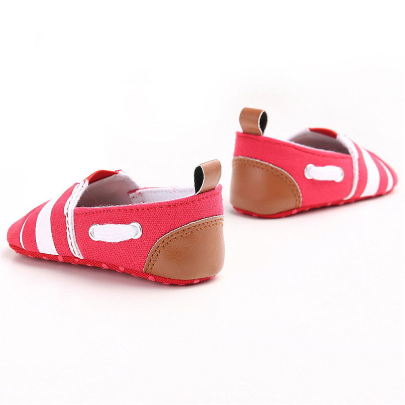 Baby Girls Shoes Fashion Toddler Baby Girl Stripe Canvas Shoe Sneaker Anti-slip Soft Sole First Walker Suit For 0-18M M8Y04 (4)
