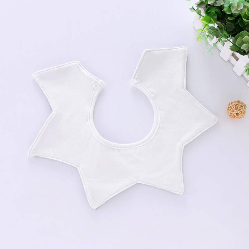 100% Cotton Waterproof Baby Bibs Fashion Round Neck Baby Girls Bibs 360 Degree Flower Star Bib For Girls Baby Girls Clothing (15)