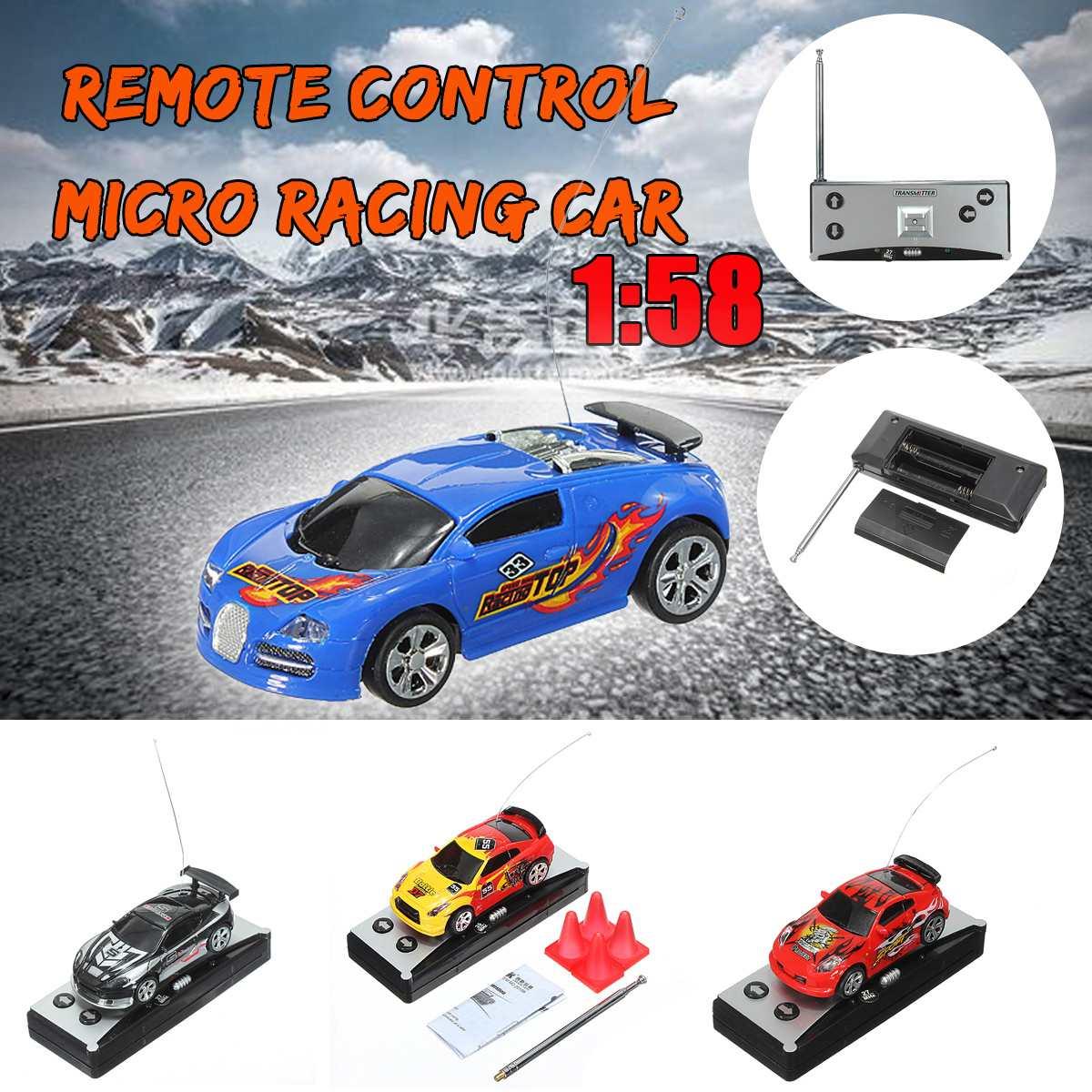 i Mini Coca-Cola telecomandata Can Kids Toy Racing Car Telecar Veicolo Telecomando Giocattoli RC Auto 1:58