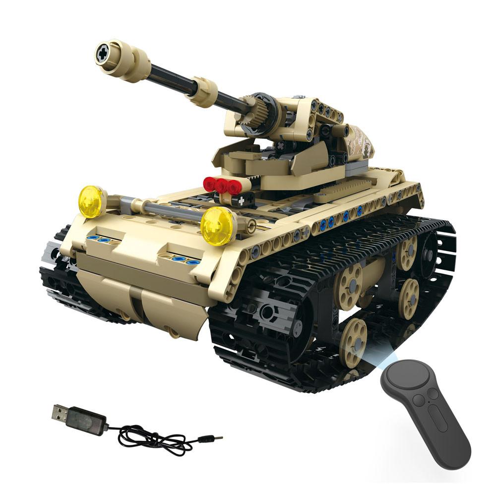 rc tank 1:18 DIY Assemble RC Cars Alloy 2.4G Radio Control Brick Tank Toys Gift Army Tank Building Blocks Bricks robot