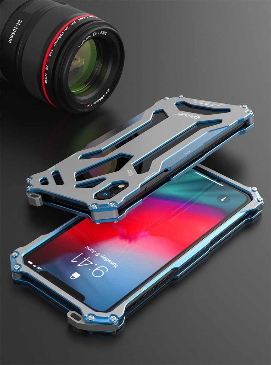Cool Metal Phone Case For iPhone XS Max Case Cover For iPhone XS R-JUST Gundam Aluminum Case Coque Capa Funda For iPhone XR (12)