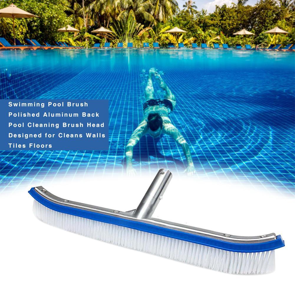 Piscine En Fibre De Verre A Vendre tête de brosse de nettoyage pour piscine en aluminium poli, finition  arrière, conçue pour nettoyer les sols, carrelage, murs