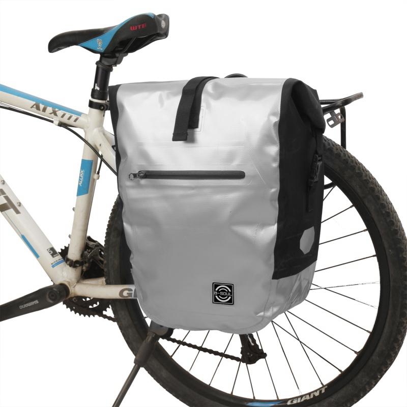 Vintage bicicleta doble bolsa portaequipaje bolso bicicleta de cuero bolso de equipaje MTB