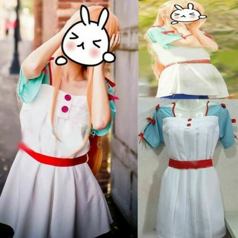 Anime Sword Art Online Asuna Cosplay Costume Cute Fashion Dress Free Shipping