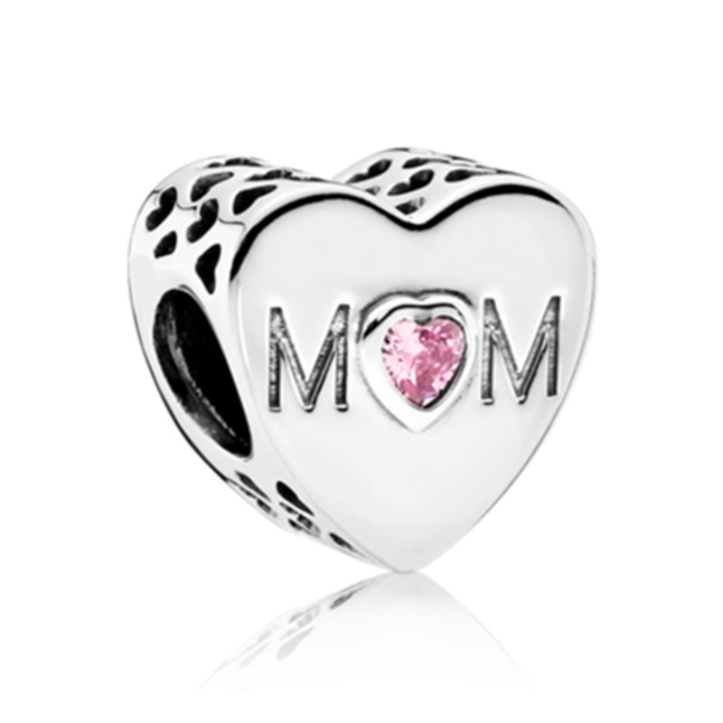 Cubic Zirconia Bead Charm for Women White Gold Plated Tree of Life CZ Bead Charm Mom Gifts Crystal Charms Bead Valentines Day Christmas Birthday Gifts for Mom Wife Beads Charms for Bracelet Necklace