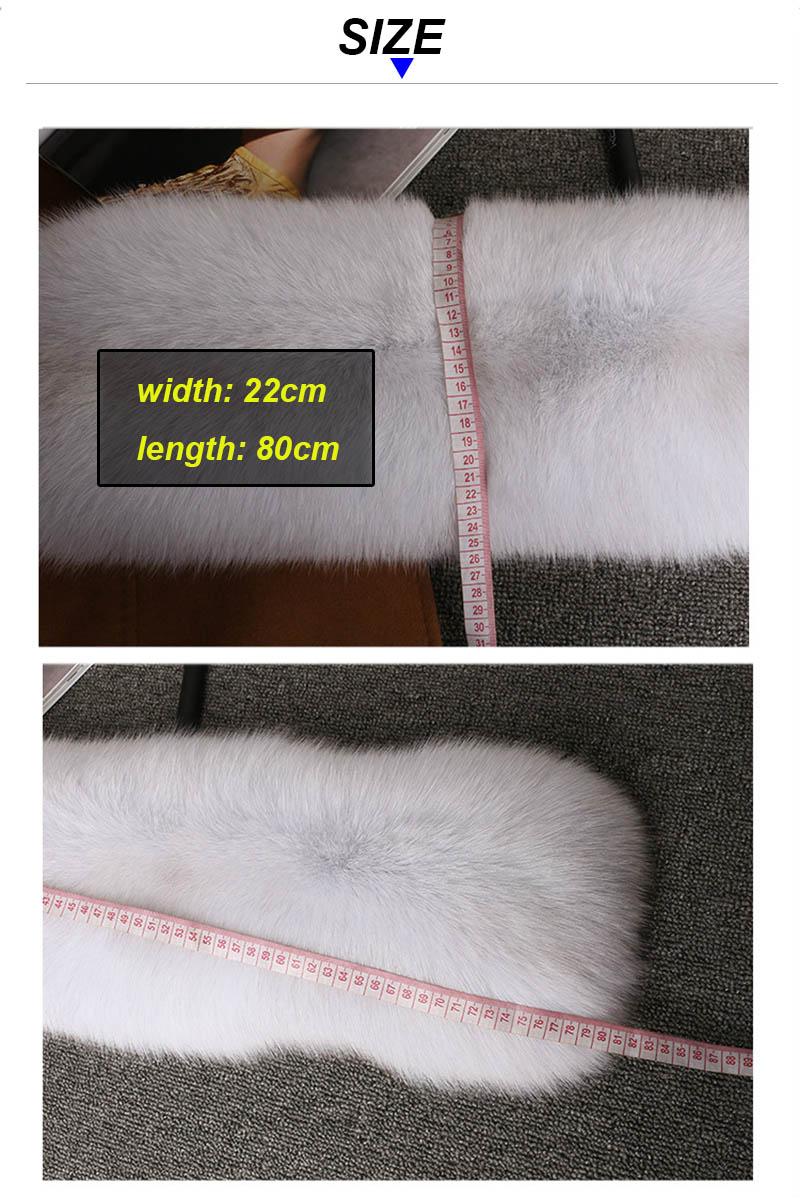 fox fur scarf color details 3