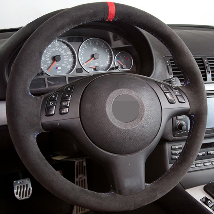 Black-Suede-Leather-DIY-Hand-stitched-Car-Steering-Wheel-Cover-for-BMW-E46-E39-330i-540i-2