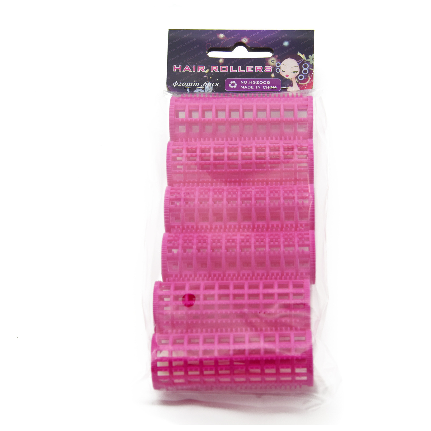 20mm Plastic Tooth Hair Roller with Fixed Pins Fluffy layers Hair Air Bang Curl Rods Curlers Hairdresser Styling U1196