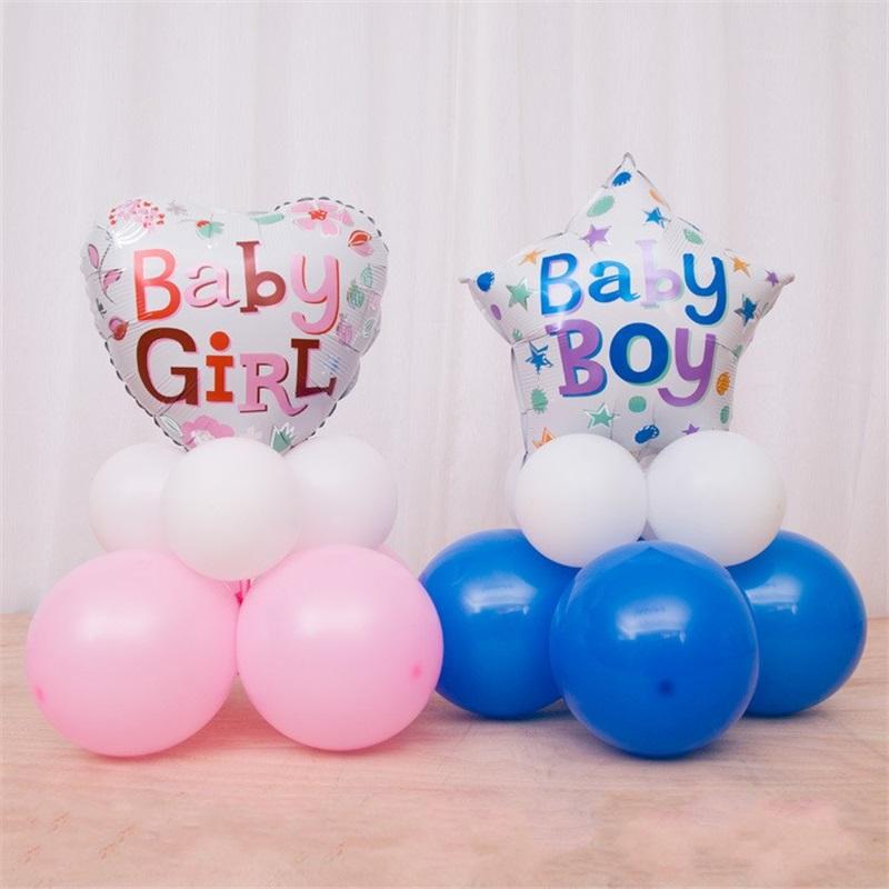 Sein ein Jungen Mädchen nette Stern Herz Ballon Satz Feier neugeborene