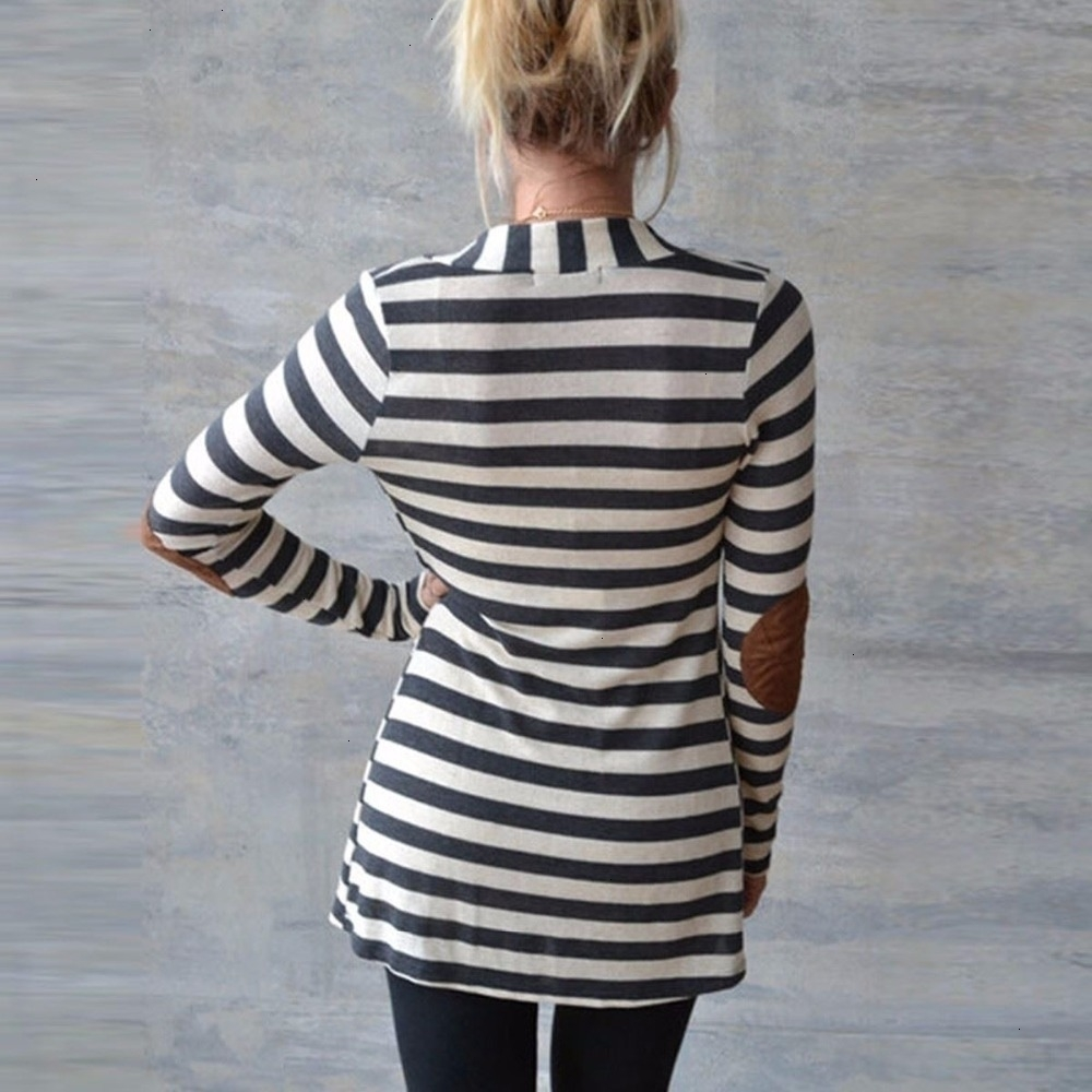 New-Fashion--Autumn-Outerwear-Women-Long-Sleeve-Striped-Printed-Cardigan-Casual-Elbow-Patchwork-Knitted-Sweater